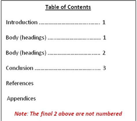 report formatting and referencing 2011