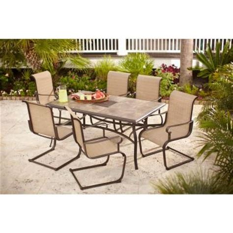 patio dining sets home depot hton bay belleville 7 patio dining set fcs80198st