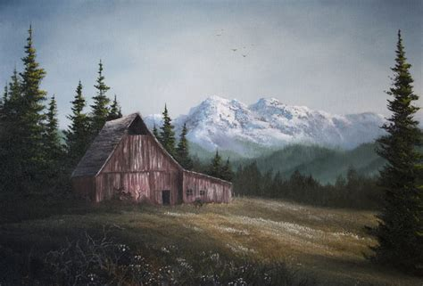 bob ross painting barns quot the lonely barn quot by kevin hill paintwithkevin kevin