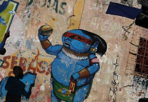 brazil painting show the best of anti world cup graffiti shows how brazilians