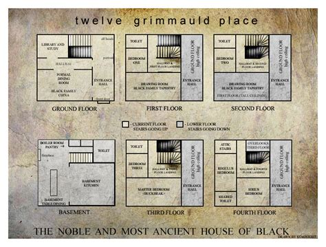 grimmauld place floor plan grimmauld floor plans by stagnight on deviantart