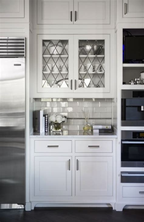 white glass kitchen cabinet doors leaded glass cabinet doors transitional kitchen