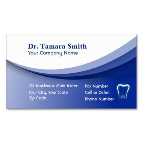 medical business card template design