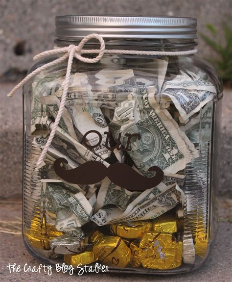 for gifts money quot stache quot jar wedding gift the crafty stalker