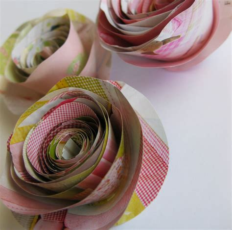 how to make paper from magazines frugal project rolled paper flowers made from