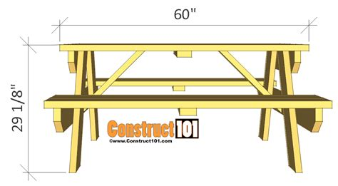 free picnic table plans picnic table plans free custom woodworking projects