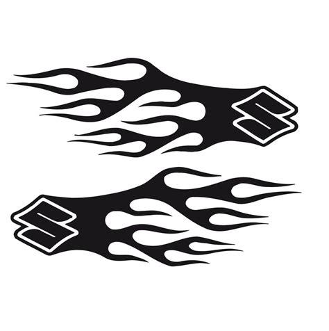 Suzuki Decals by Bike Chopper Gas Tank Flames Tribal Vinyl Decal Sticker