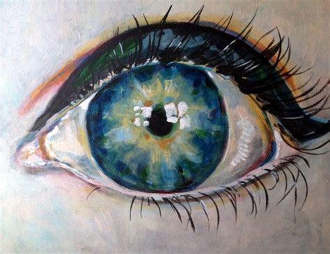 acrylic paint eye original acrylic eye painting 16x20 by doquityourdayjob on