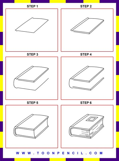 how to draw a picture of a book how to draw a book step by step for search