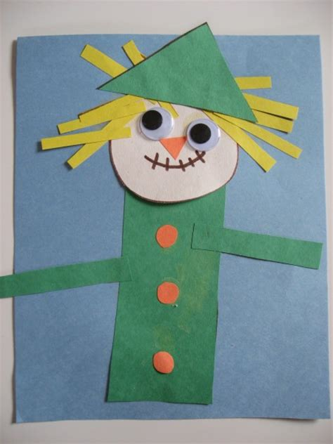 scarecrow craft for harvest crafts activities no time for flash cards