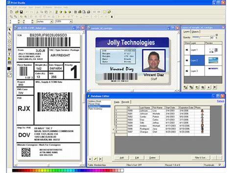 photo id card software free sreenshot print studio id badge maker software 2e id
