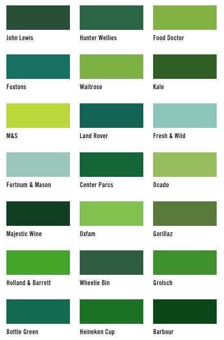 list of green colors 21 shades of green colour greens