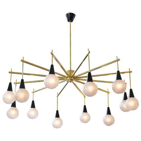 modern brass chandelier mid century modern brass and murano glass chandelier for sale at 1stdibs