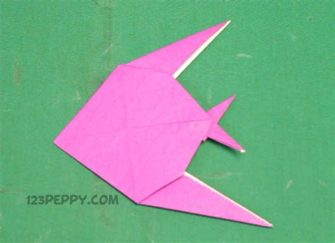 easy origami fish paper folding crafts easy for