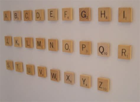 scrabble words with these letters cool home creations scrabble letter magnets