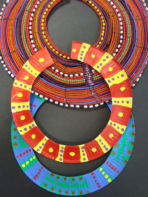 kenya crafts for once upon an room necklaces paper plates