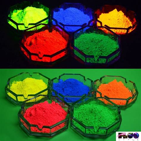 glow in the pigment powder fluorescent luminescent glow in the additive pigment