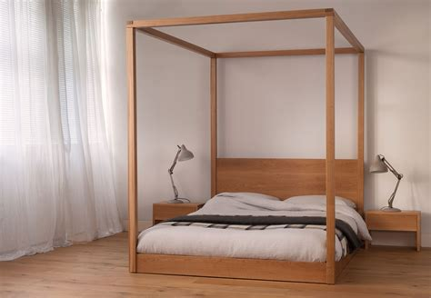 4 poster bed cube modern four poster bed solid wood bed