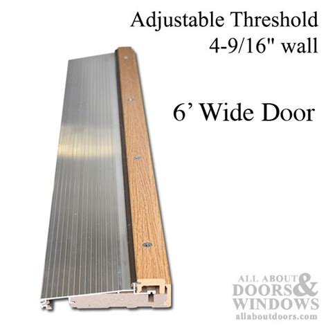 exterior door threshold replacement adjustable door threshold adjustable threshold all