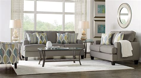 grey living room set cypress gardens gray 7 pc living room living room sets