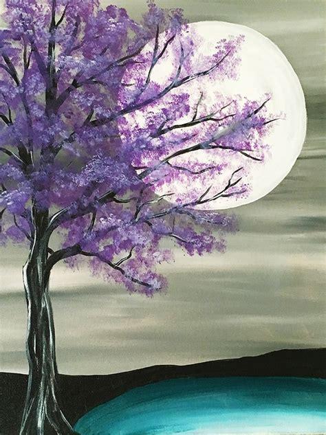 paint nite tree paint nite majestic purple tree