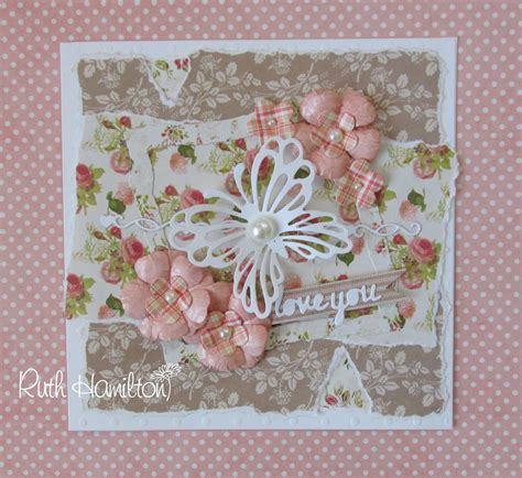 paper for cards a for cards a shabby chic card with