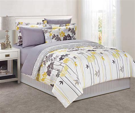 gray and yellow comforter sets just home gray yellow dandelion comforter sets big lots