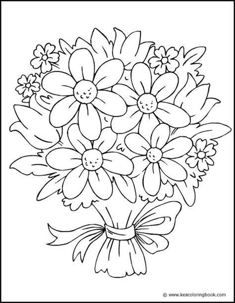 coloring book pictures of flowers pretty flower coloring pages flower coloring page