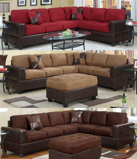 sectional sofa microfiber sectional sofa furniture microfiber sectional 2 pc
