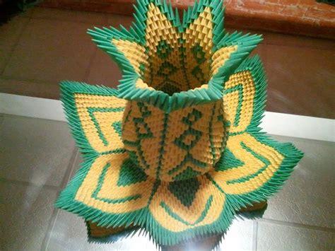 how to make 3d origami how to make 3d origami vase lotus restored