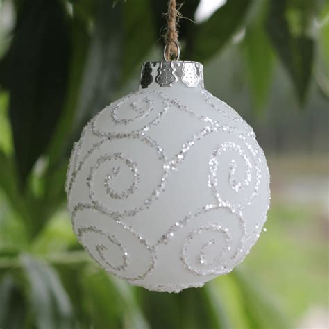 white glass balls popular frosted ornaments buy cheap frosted