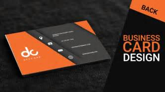 business cards make business card design in photoshop cs6 back orange