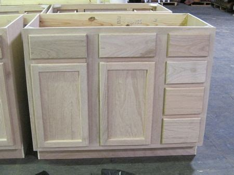 kitchen cabinets as bathroom vanity surplus building materials unfinished bathroom vanity