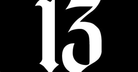 the lucky number 13 number 13 white vinyl decal