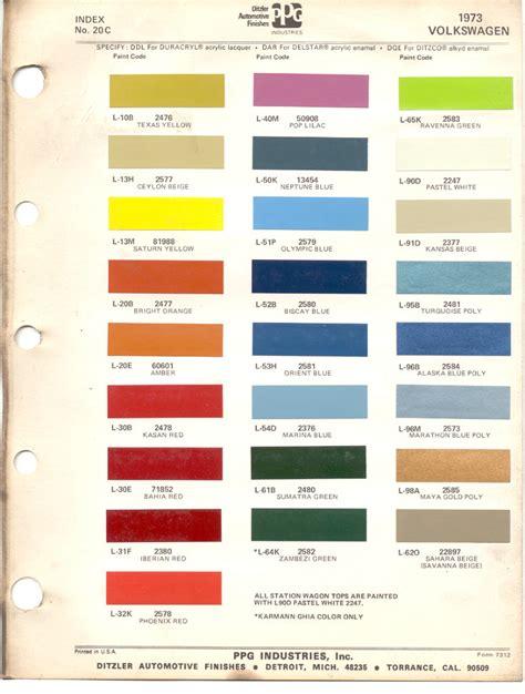 paint colors for vw beetle paint chips 1973 beetle vw volkswagen