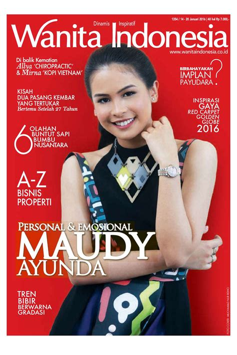 wanita indonesia wanita indonesia magazine ed 1354 january 2016 scoop