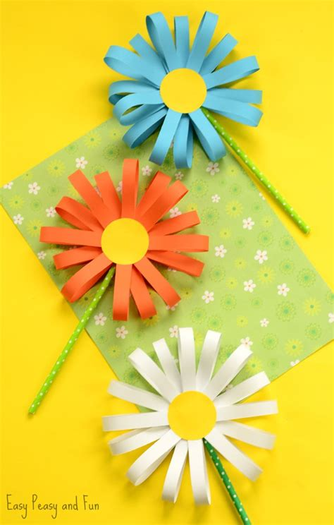 paper flower craft for children paper flower craft easy peasy and