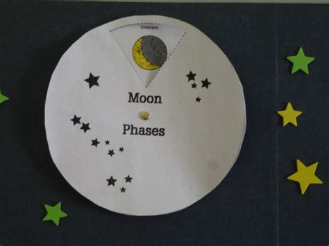 moon crafts for moon phase wheel printable science health