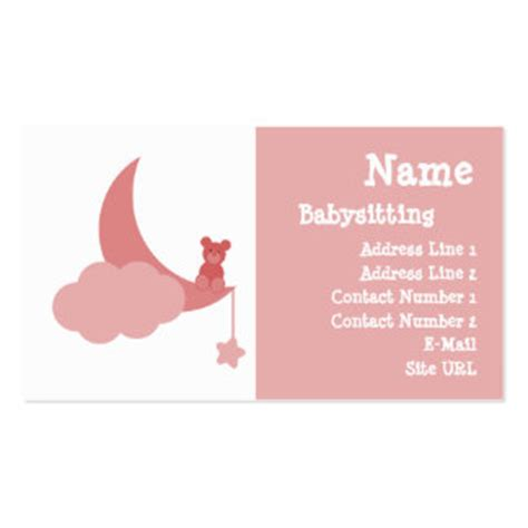 how to make babysitting cards babysitting business cards 1 000 business card templates