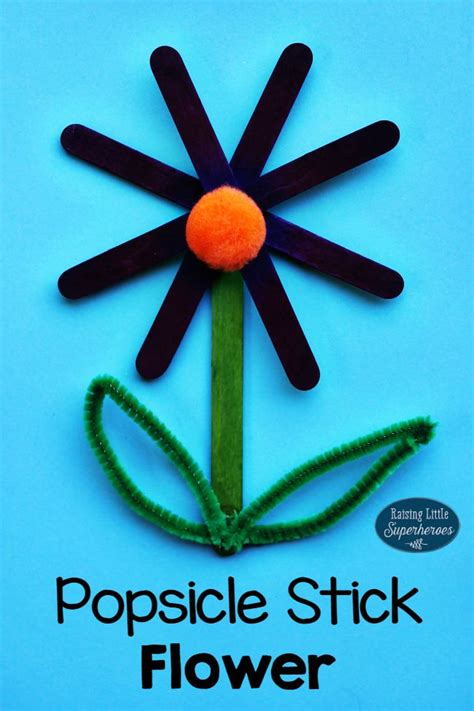 popsicle stick kid crafts popsicle stick flower