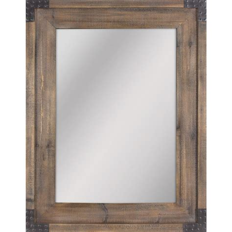 allen roth bathroom mirrors shop allen roth reclaimed wood beveled wall mirror at