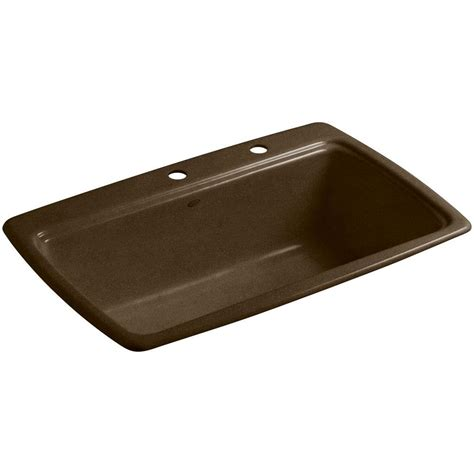 single bowl cast iron kitchen sink kohler cape dory drop in cast iron 33 in 2 single