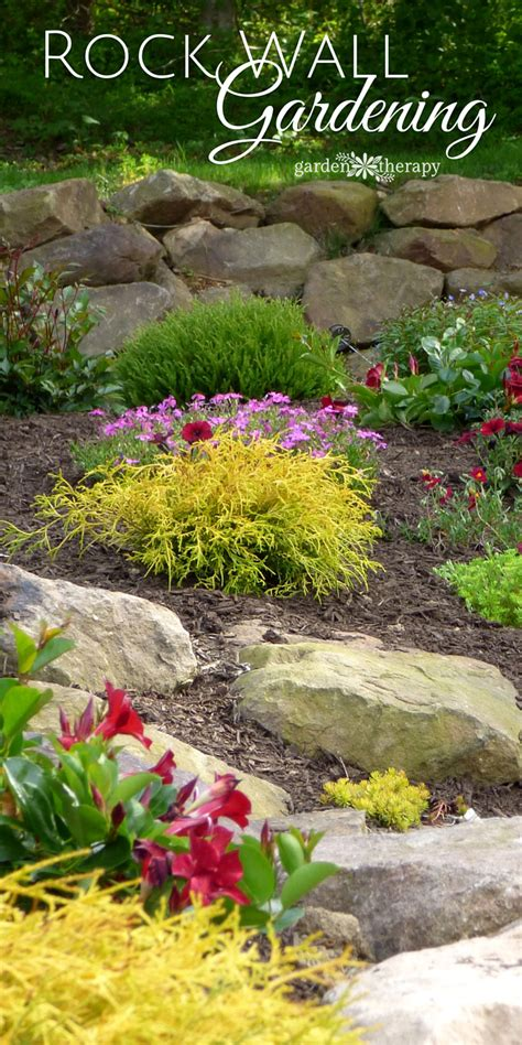 rock wall garden ideas creating and structure with a rock wall garden