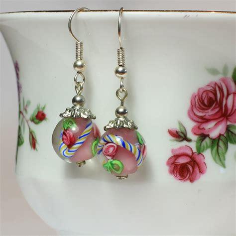 how to make bead earrings at home glass bead earrings
