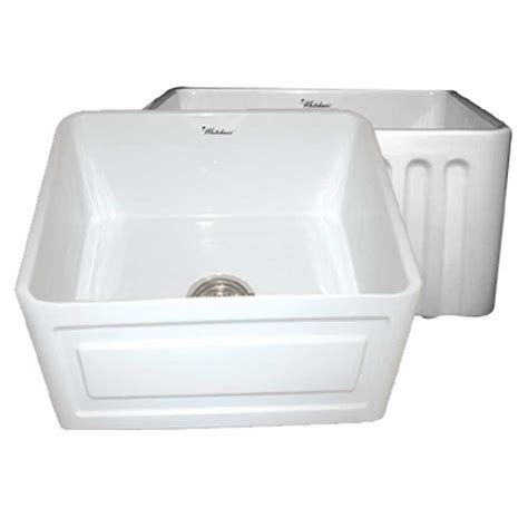 raised kitchen sink whitehaus collection raised panel reversible farmhaus