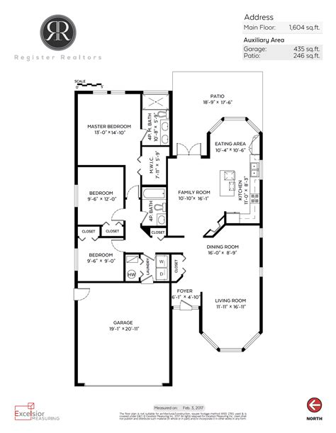 roomsketcher show measurements bedroom floor plan with measurements create a 2d site