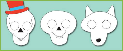 funny bones themed role play masks free early years