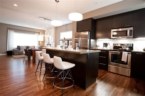 White Cabinets With Dark Floors by Espresso Hardwood Floors Kitchen Traditional With