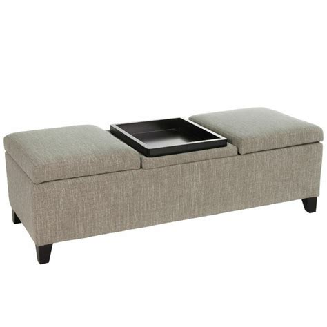 storage ottoman coffee table with trays design fabric storage ottoman with center coffee