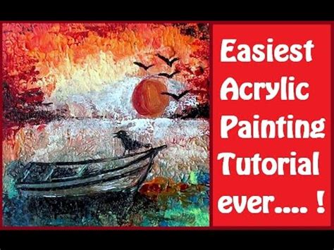 acrylic painting step by step tutorial how to paint easiest acrylic painting step by step